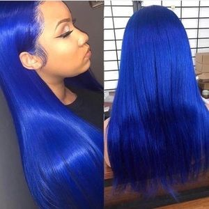 "💫EVANI 22"" DARK BLUE STRAIGHT LACE FRONT WIG *NEW"